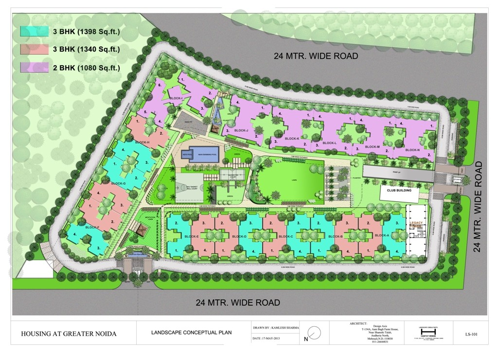 Raj Residency site plan