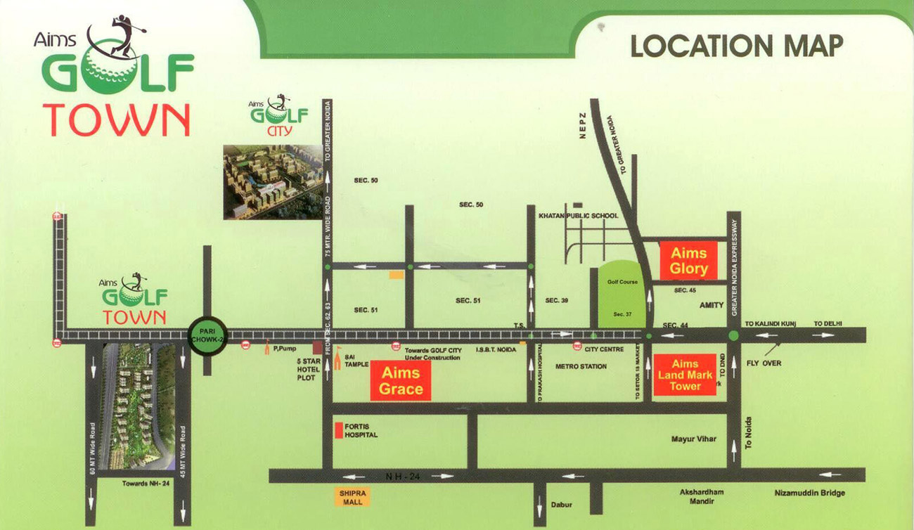 aims golf town location map