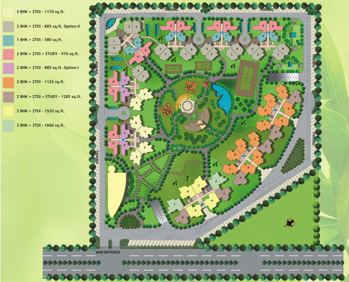 amrapali-spring-meadows-site-map