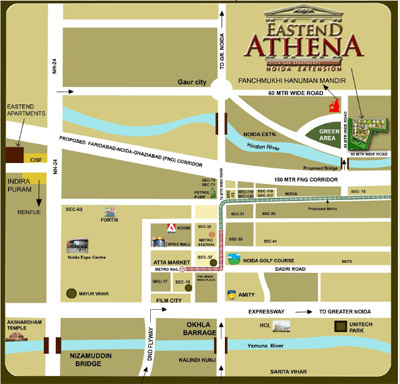 eastend-athena-location-map