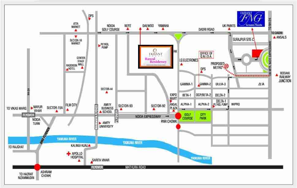 ekdant-rawal-residency-location-map