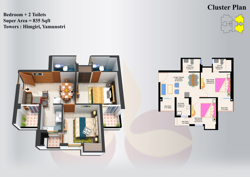 EROS Sampoornam Noida Extension Floor Plan