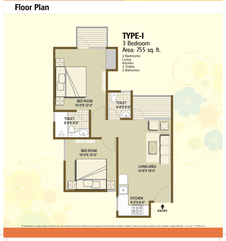 panchsheel hynish floor plan2