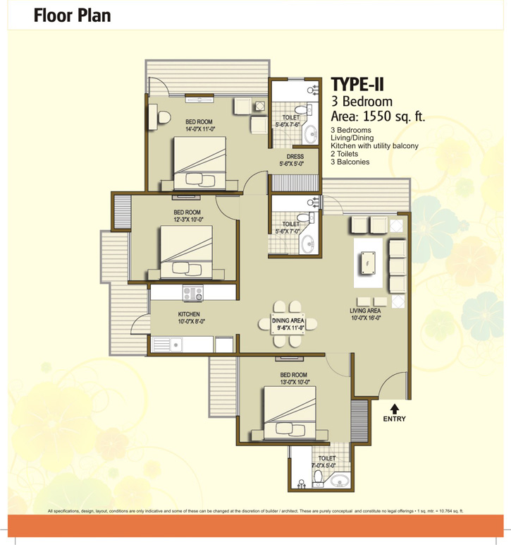 panchsheel hynish floor plan4