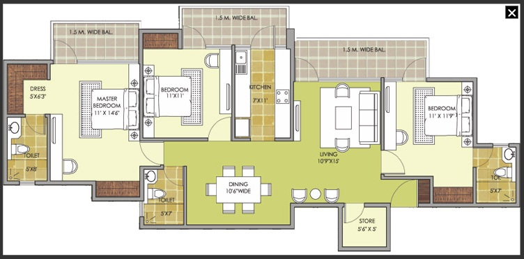 patel new town floor plan7