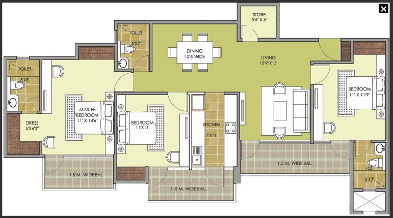 patel new town floor plan8