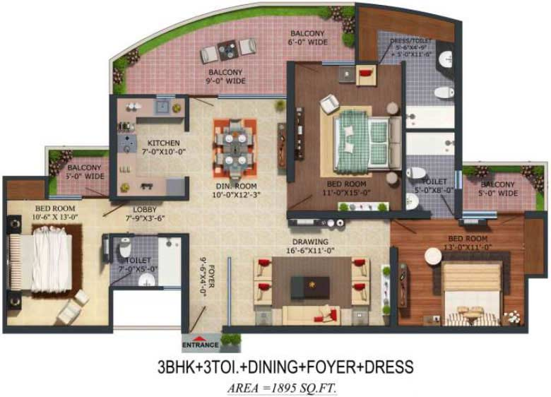 supertech albaria floor plan3