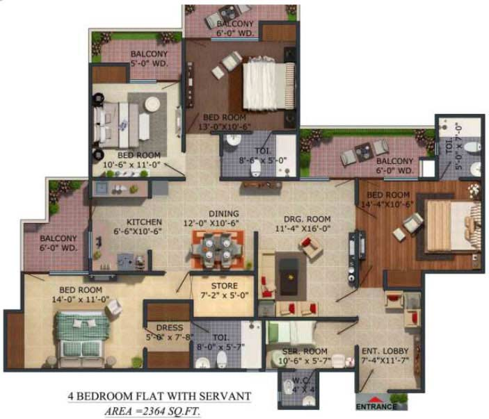 supertech albaria floor plan4