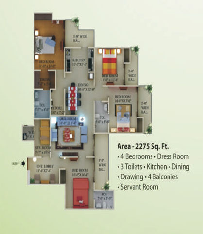 supertech eco village1 floor plan10