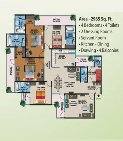 supertech eco village1 floor plan11