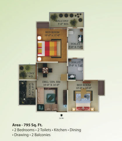 supertech eco village1 floor plan2