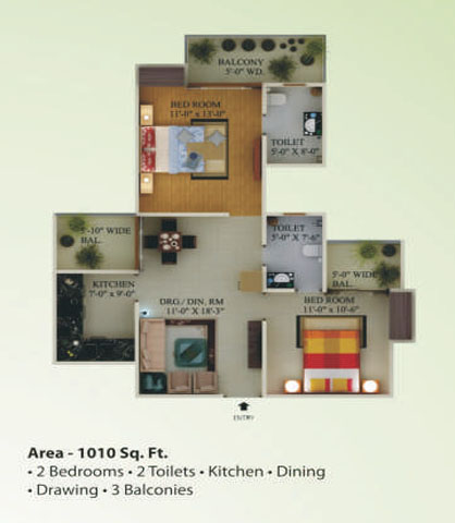 supertech eco village1 floor plan3