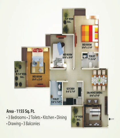 supertech eco village1 floor plan4