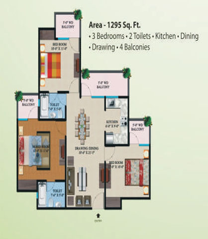 supertech eco village1 floor plan5
