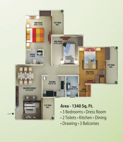 supertech eco village1 floor plan6