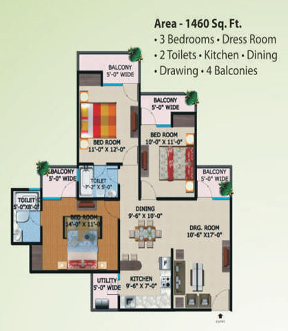 supertech eco village1 floor plan7