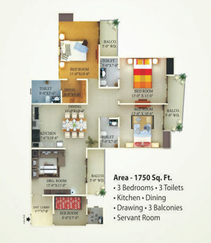 supertech eco village1 floor plan9