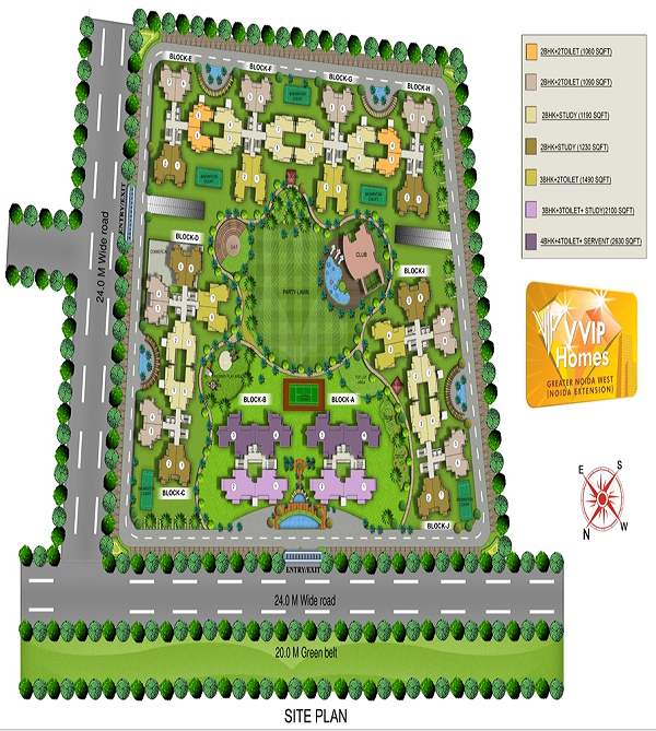 vvip homes site plan
