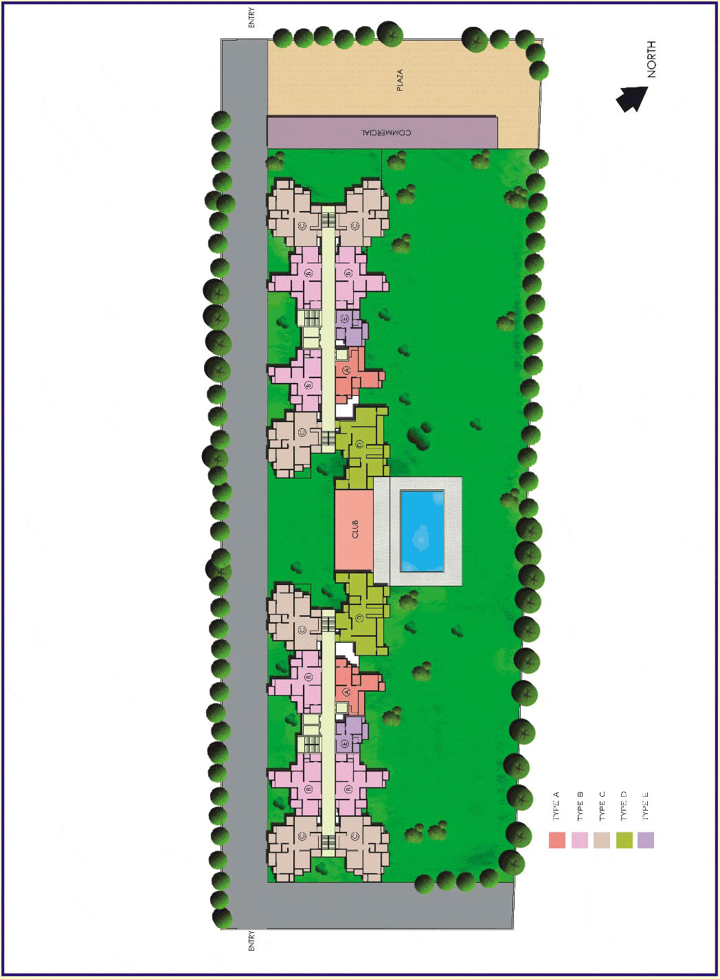 antriksh-velley-site-plan