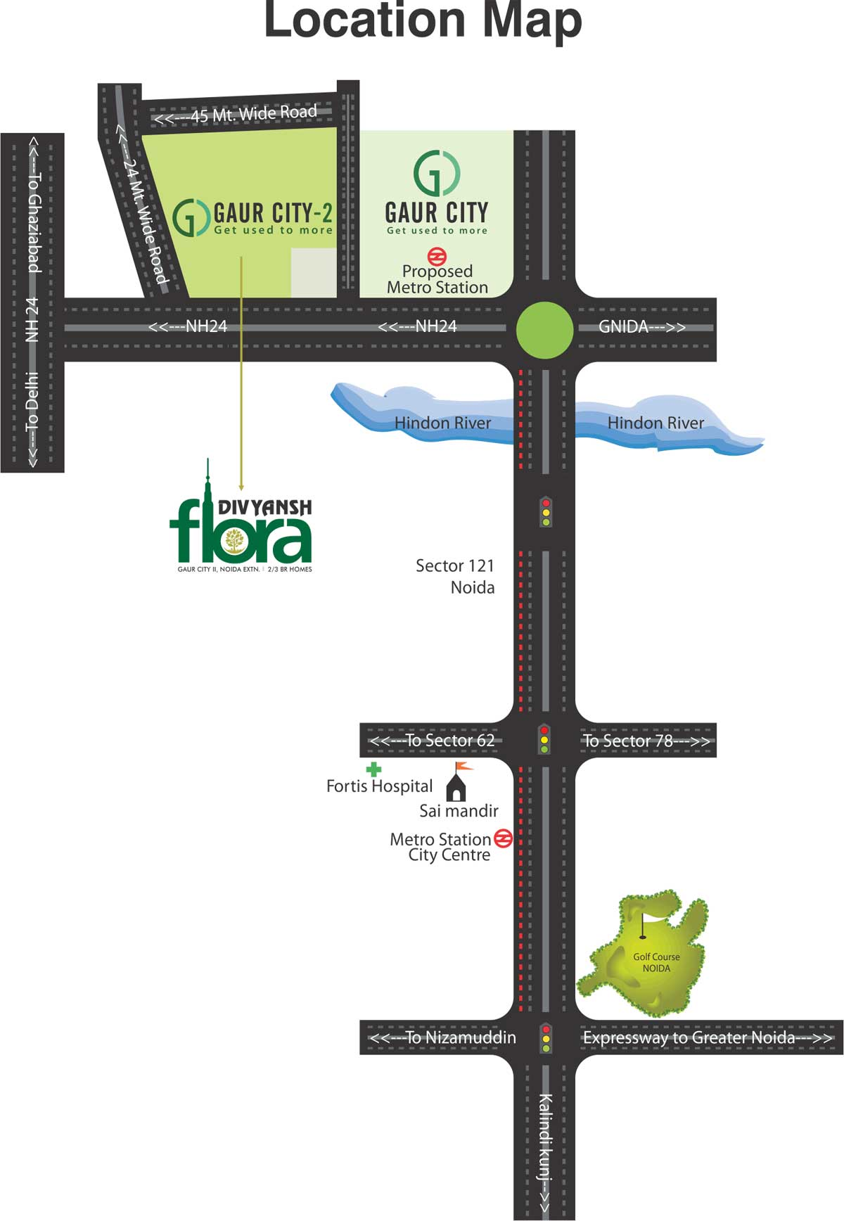 Divyansh Flora Noida Extension Site Plan