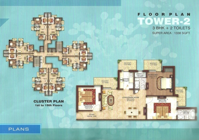 astha green floor plan 3bhk 2toilet 1338 sqft