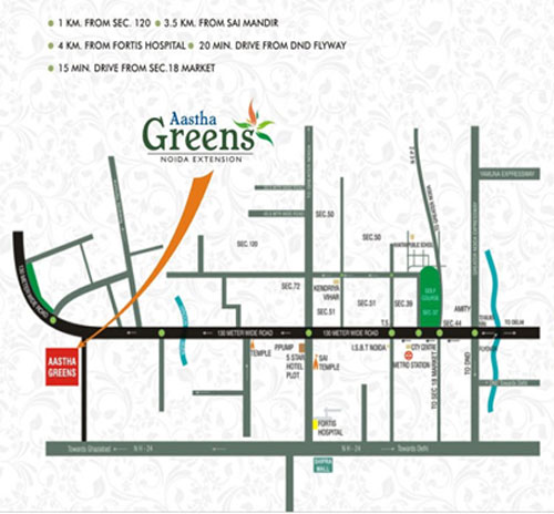 astha green location map
