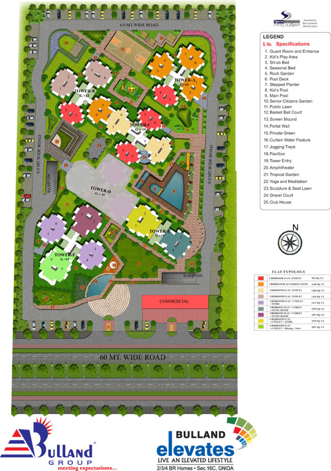 bulland elevates site plan