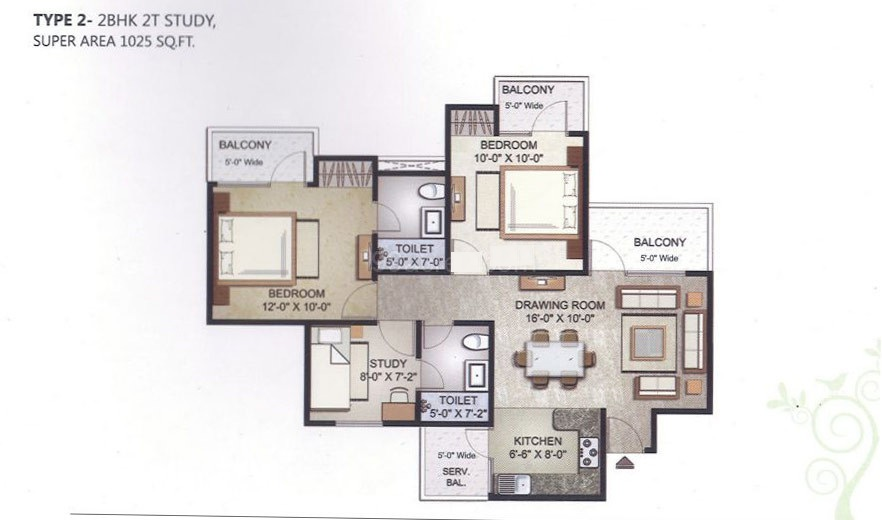 elegant ville floor plan 2bhk 2toilet 1025 sqft