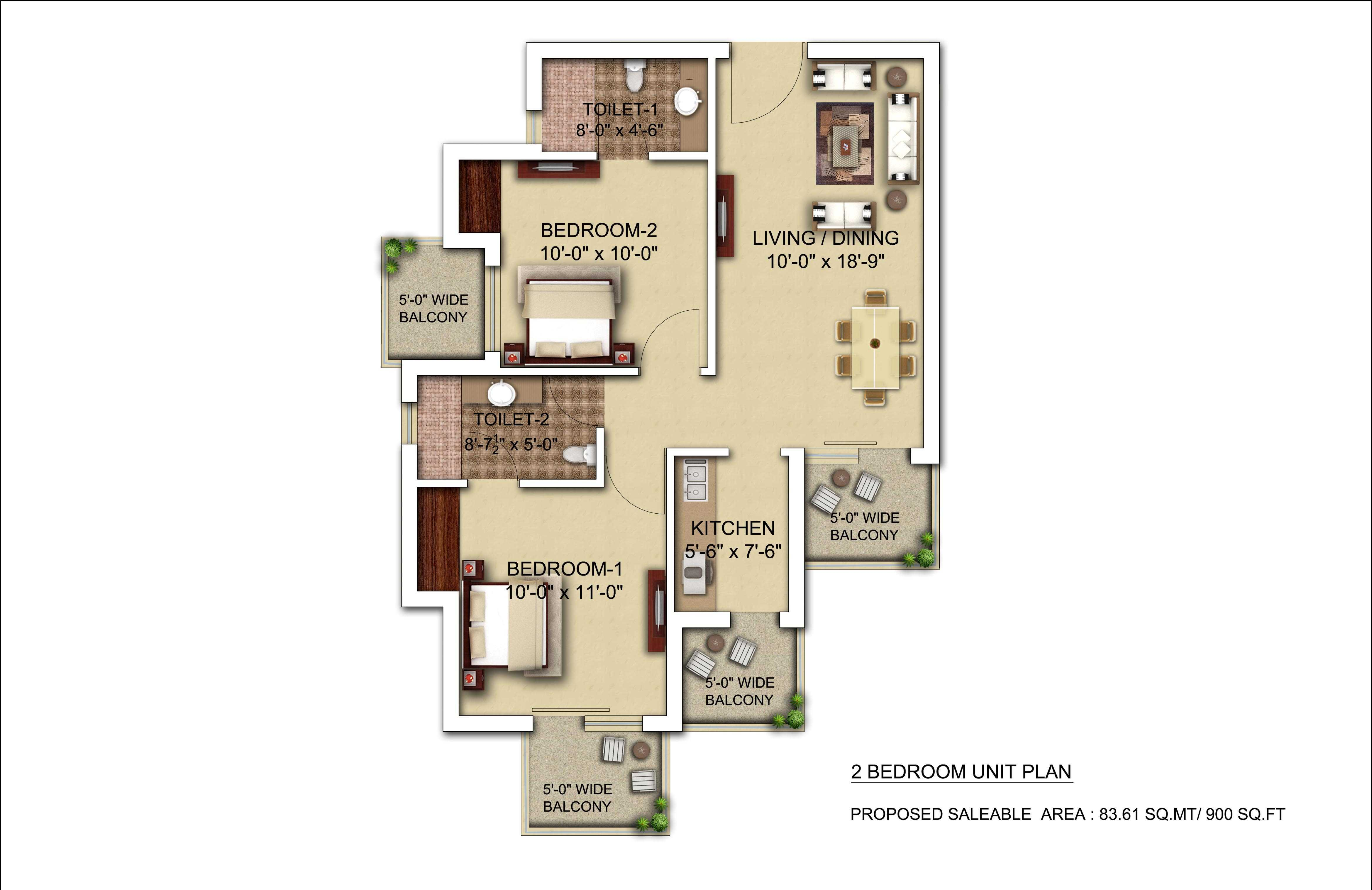 morpheus bluebell floor plan 2bhk 2toilet 900 sqft