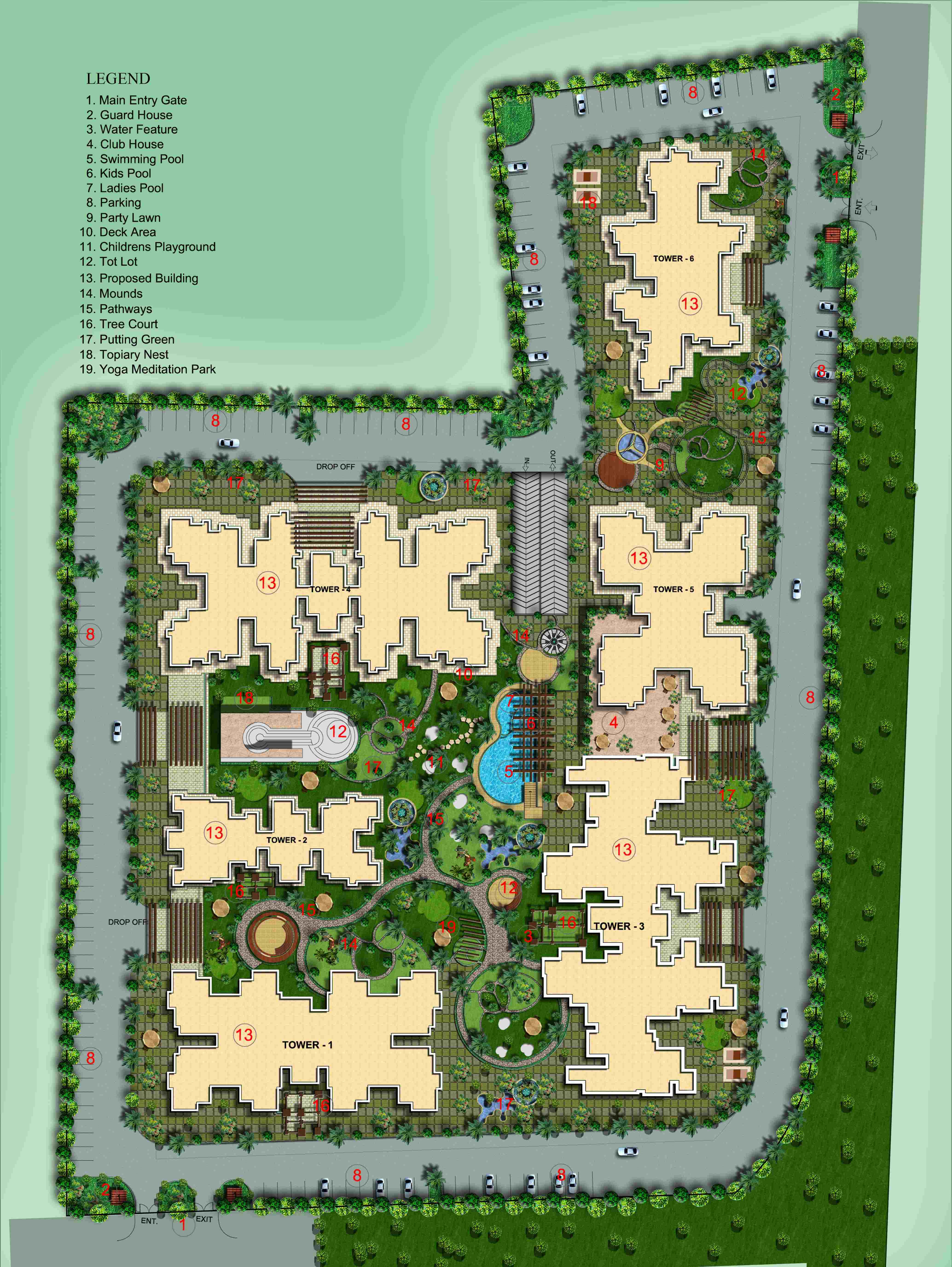 morpheus bluebell site plan