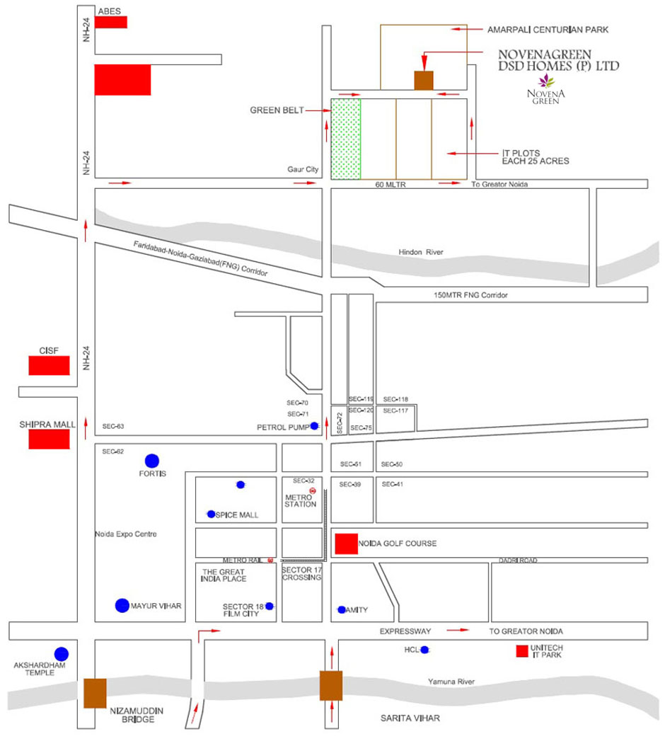 novena green location map