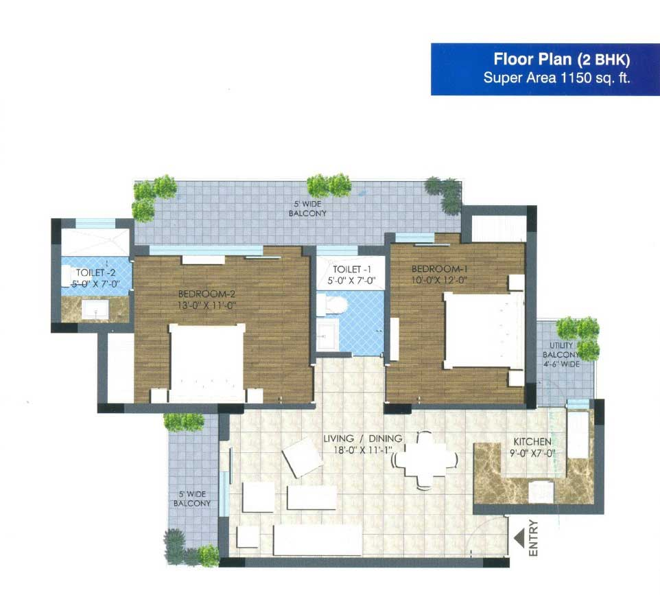 nx avenue floor plan 2bhk 2toilet 1150 sqft