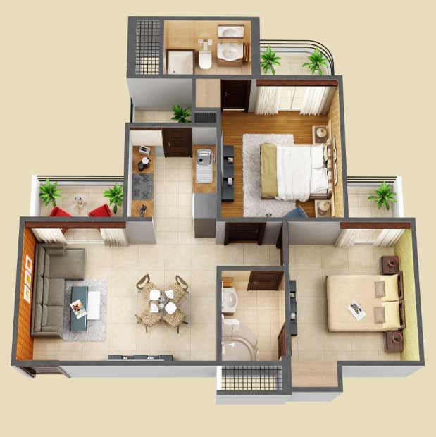amaatra homes floor plan 2bhk 2toilet 1048 sqft