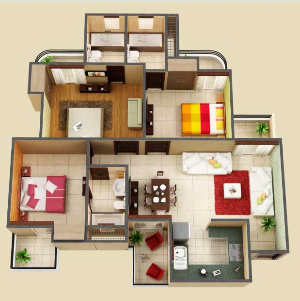 amaatra homes floor plan 3bhk 3toilet 1591 sqft