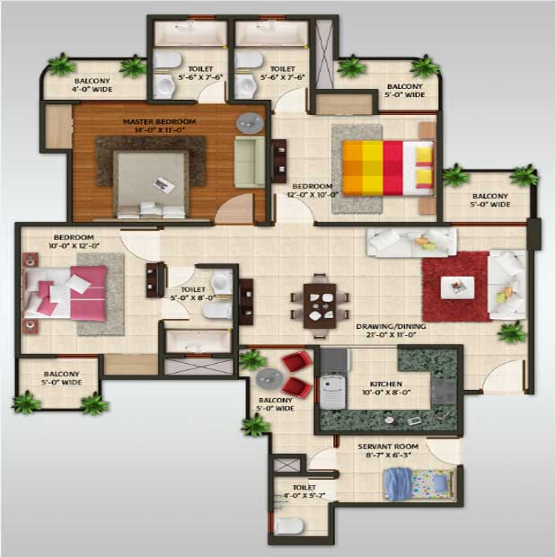 amaatra homes floor plan 3bhk 3toilet 1722 sqft