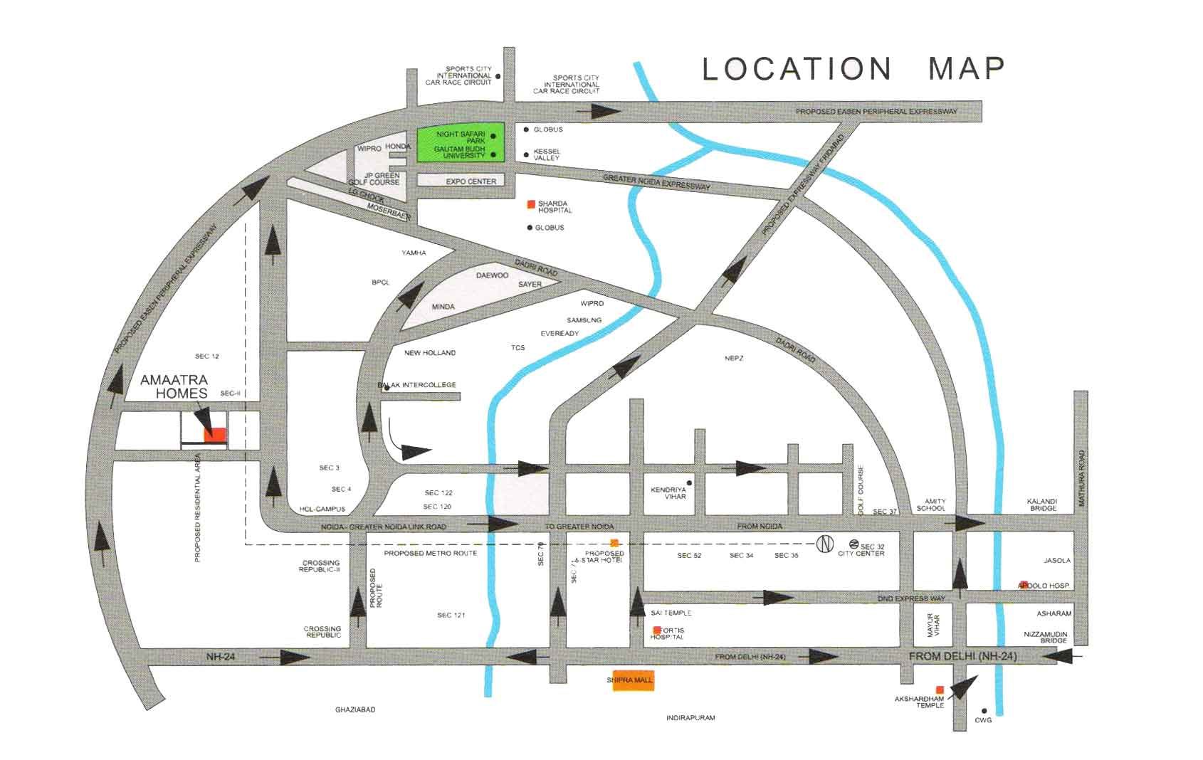 amaatra homes location map
