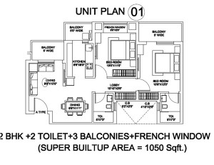casa green floor plan 2bhk 2toilet 1050 sqft