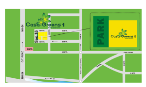 casa green location map