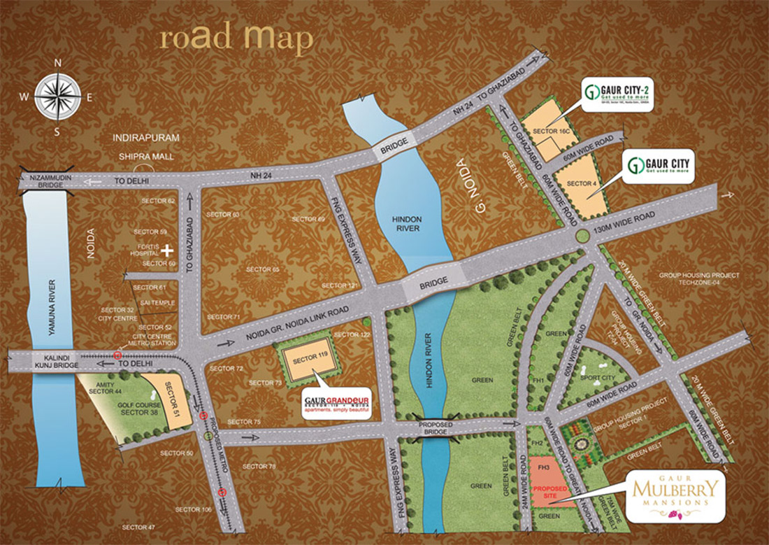 gaur mulberry mansions location map