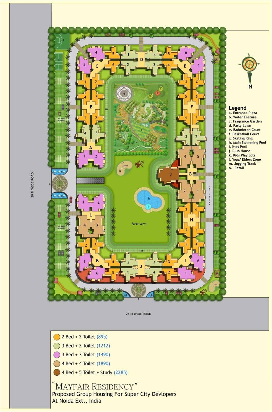 mayfair residency site plan