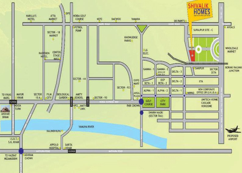 shivalik homes location map