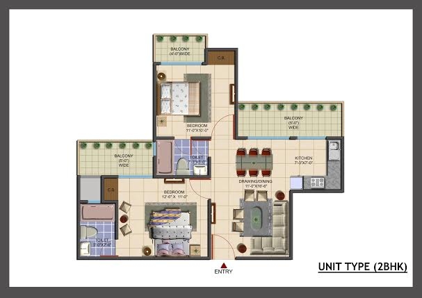 avj info city floor plan 2bhk 2toilet 1100 sqft