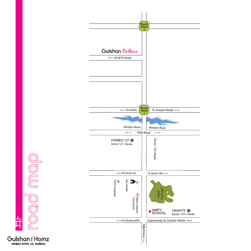 gulshan bellina location map