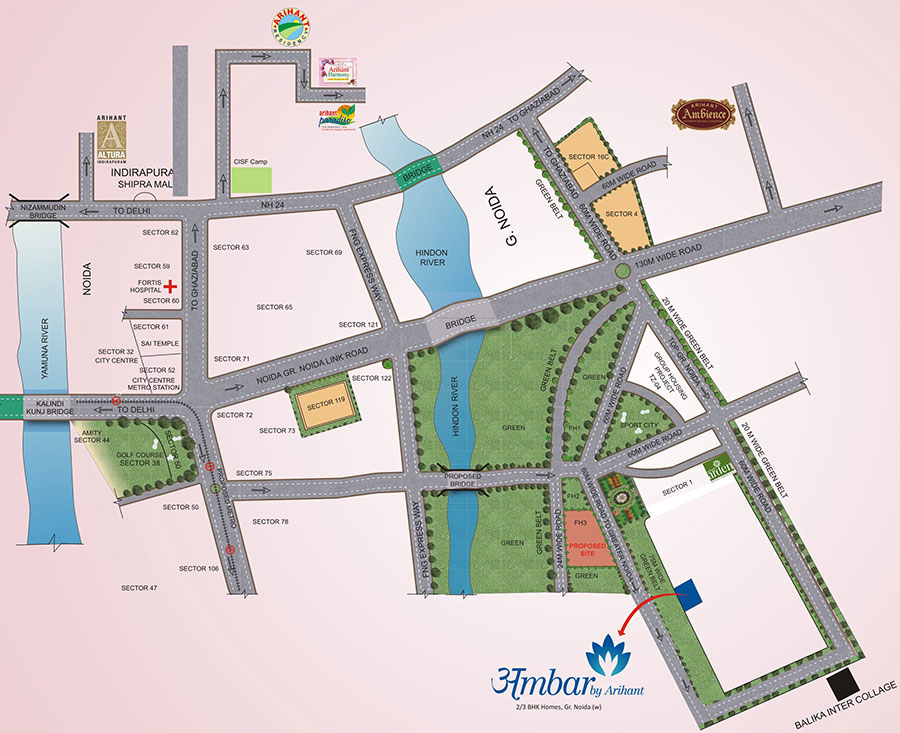 arihant ambar location map