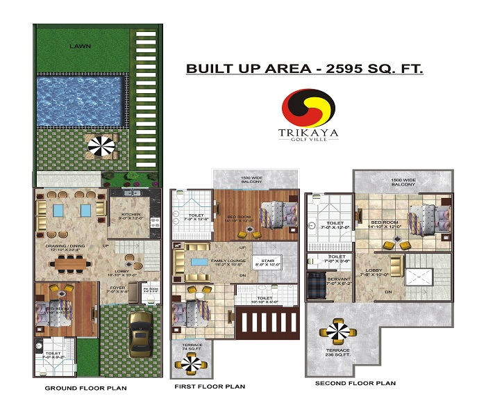 urbainia trinity nx floor plan 2595 sq.ft