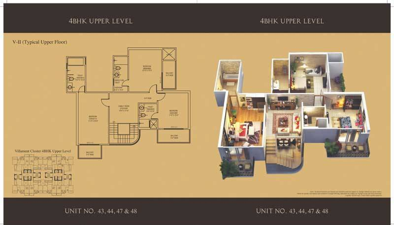 mahagun villaments floor plan 4bhk 5toilet 2950 sq.ft