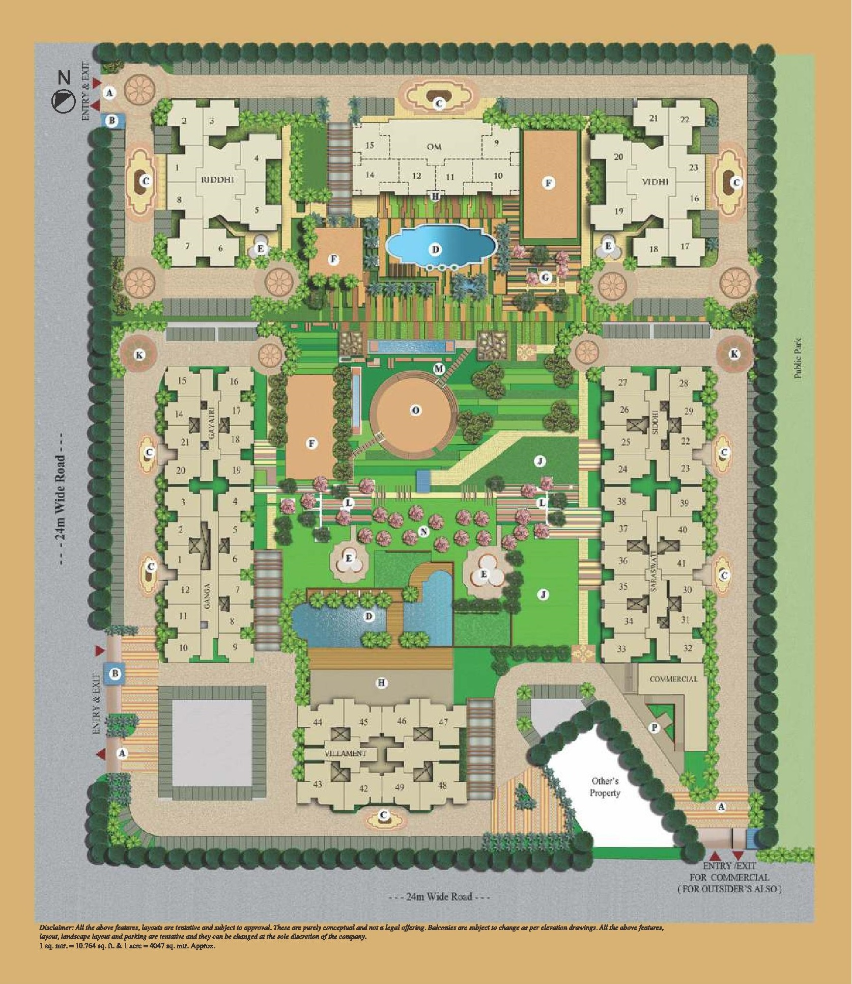mahagun villaments site plan