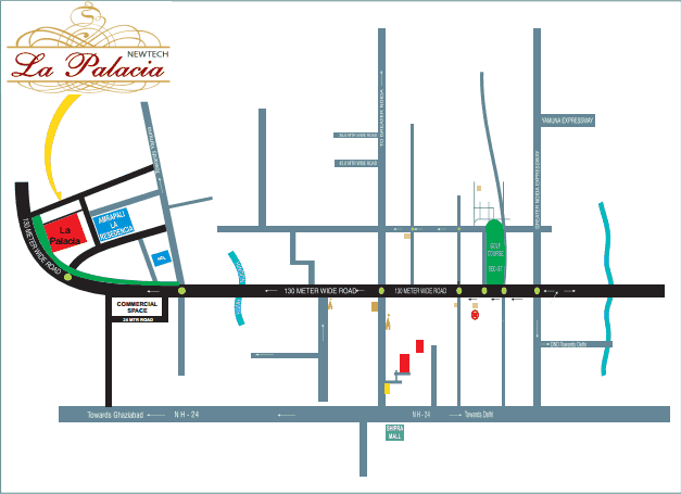 newtech la palacia location map