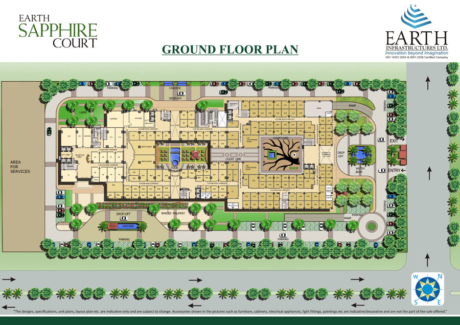 earth sapphire site plan