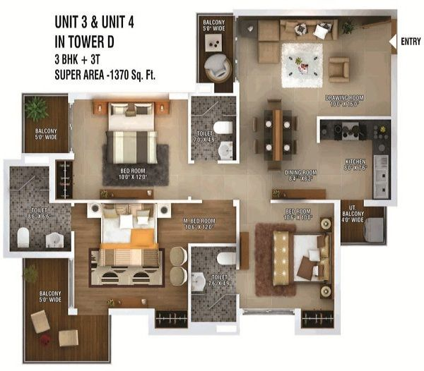 ratan-pearls-floor-plan-3bhk-3toilet-1370-sq-ft